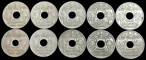 (10) 1935 STATE OF SYRIA 1 PIASTRE/ QIRSH COIN COLLECTOR LOT PARIS MINT