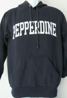 vtg PEPPERDINE UNIVERSITY Hoodie SMALL NAVY BLUE Sweatshirt Cotton S Malibu