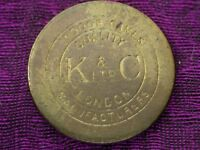K&C LTD London MFG Indoor Games Token. RARE!!! SEE PICS!!!