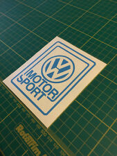 VW Motorsport Sticker Autocollant vinyle fenêtre Racing Piste Jour Oldschool Golf Mk1 Mk2