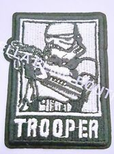 1 EMBROIDERY APPLIQUE STAR WARS STORM TROOPER IRON ON SEW ON PATCH