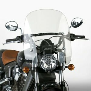 """National Cycle Spartan Clear QR Clear 18.5"""" Windshield for Indian Scout N21203"""