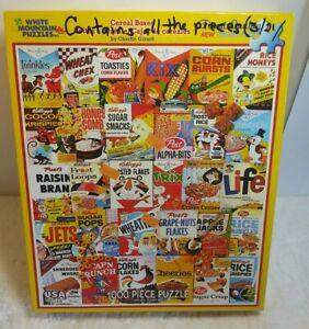 White Mountain Jigsaw Puzzle Cereal Boxes 1000 Thicker Pieces General Mills 9585