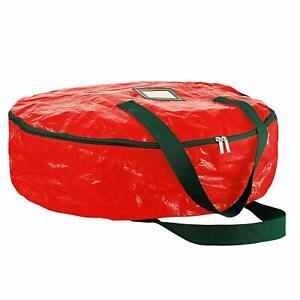 Wreath Storage Bag - Tear-Resistant Material Storage Bag 24 x 24 x 7 (Red)
