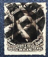 BRAZIL 1877/8   260R Good Used  Fancy Cork Cancel (P153)