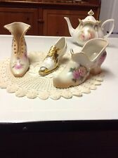 Three Gorgeous Vintage Porcelain Shoes
