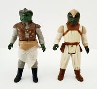 Vintage 1983 Kenner Star Wars Klaatu Action Figures Skiff Guard Both Incomplete