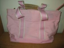 L.L. Bean Pink Canvas Zipper Tote Bag Lobster Embroidered- Very Nice - Fast Ship