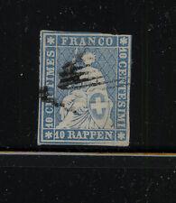 Switzeralnd  21   used   blue     catalog   $130.00      RL0707