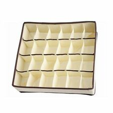 24 Cells Foldable Closet Drawer Organizer Box For Bra Underwear Tie Sock Q6F6