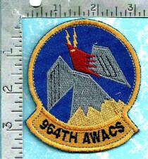 USAF Turkish made patch - 964th Airborne Warning & Control Sqdn deployment