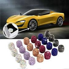 4X Universal Diamond Bling Tire Air Valve Stem Caps For Car Truck Bike Wheel NEW