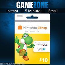 Nintendo e-Shop Gift Card Code - $10 USD USA Nintendo eShop Key 3DS/DS/Wii U