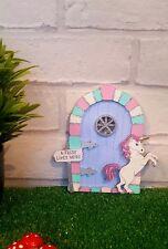 Unicorn Fairy Door, Handpainted wooden Glitter Pixie, Elf Door, Room Wall Decor