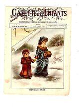 GAZETTE DES ENFANTS N° 2 10 JANVIER 1897 PROMENADE D' HIVER