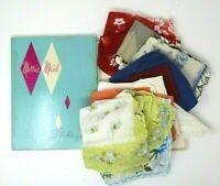 Vintage Handkerchief Hanky Lot Shabby Mid Century Craft Lot