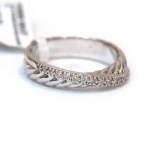 Nuevo David Yurman PAVE anillo de diamantes de cruce de plata esterlina tamaño 7.25