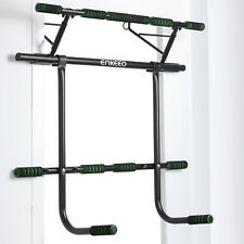 Chin-Up Pull Up Bar Heavy Duty Doorway Home Fitness Gym Upper Body Workout Set
