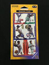 DEREK JETER, CHIPPER JONES  ODD BALL 1997 SEALED STICKERS PACK BASEBALL CARDS