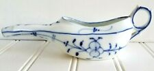 Antique Fine Porcelain Blue Onion Sick Feeder Invalid Cup Pap Boat