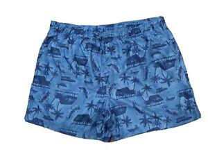 Ocean Pacific OP Men's Navy/grey XL(40-42) Hawaiian Swim Trunks