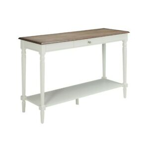 Convenience Concepts French Country Console Table, Driftwood/White - 6042187DFTW