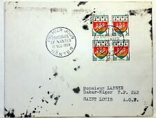 Yt 1185 BLASON ARMOIRIES DE NANTES  1958  FRANCE PREMIER JOUR FDC