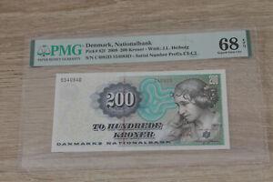 Denmark 200 kroner 2008 UNC p62f PMG68 @ low start