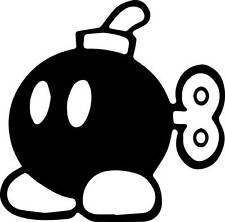 Mario Bro bomb Logo B-Bomb Decal Sticker Cars jdm stance flush laptop