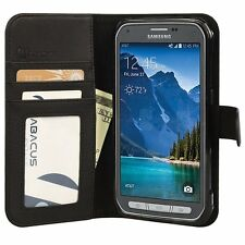 Black Wallet Flip Cover Case for Samsung Galaxy S5 ACTIVE Phone Model