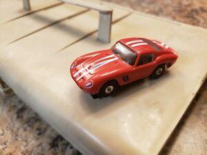 Vintage  Aurora Red Cobra Daytona GT Shelby Closed Rivet Ho Scale Slot Car Runs.