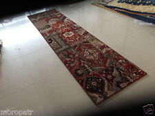 KASHAN SUPER,  9FT. RUNNER, BRAND NEW, TERRACOTTA,  PURE WOOL...FREE DELIVERY.