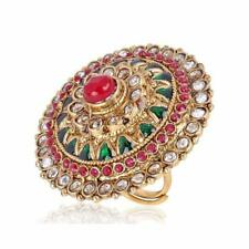 Women Multicolor Stone Finger Ring Party Wear Traditional Meenakari Kundan Rings