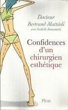 Dr BERTRAND MATTEOLI CONFIDENCES D'UN CHIRURGIEN ESTHETIQUE