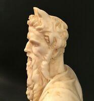 Michelangelo's Moses sculpture. Vintage Almicare Santini sculpture in resin.
