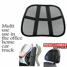 MESH BACK SUPPORT LUMBAR LOWER BACK CUSHION PAIN RELIEF LUMBER CAR SEAT OFFICE