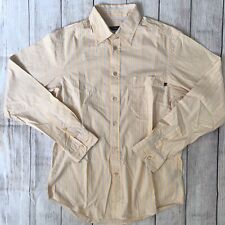 Ermenegildo Zegna Men's Orange Striped Button-Down Shirt Size Medium