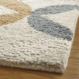 Oriental Rug 5x8 Contemporary Style Handmade Loop Tufted Wool Rug & Carpet