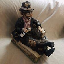 "Vintage Waco ""Willie The Whistler� Hobo Clown Animated Porcelain Figurine"