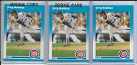 (3) 1987 Fleer Update Greg Maddux RC LOT Atlanta Braves Clean HOF Cy Young #U-68