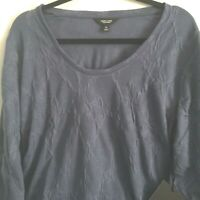 Simply Vera Womens Shirt XL Textured Blue Long Sleeve New