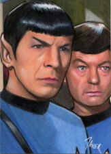 STAR TREK TOS SPOCK & McCoy BONES Nimoy LIMITED SKETCH Card PRINT 1 of 15 ART