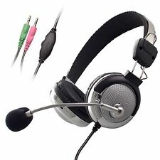 Super Bass Stereo Computer PC Laptop Desktop Notebook Headphone Headset with Mic