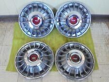 70 71 72 73 Ford Amp Mercury Finned Hub Caps 14 Set Of 4 Turbine Wheel Covers Fits Mustang