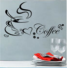 Wall Sticker Home Decor Coffee Art Removable Kitchen Decal Vinyl Mural Best