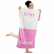 Funny Gift for Ladies Women Fanny Side Face Towel Cotton Pink Home Bath Linens