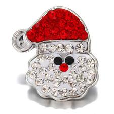 10pcs Crystal Alloy Charm Ginger Snap Button For Noosa Necklace/Bracelet N737