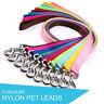 Dog Puppy Pet Leash Lead Nylon - 9 Colours
