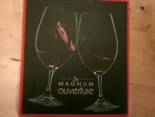 Riedel Magnum Overture Glasses pair crystal glass
