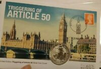 #BREXIT🔹️2017🔹️BRITANNIA 1oz Silver £2 Two Pounds Coin LEATHER FOLDER